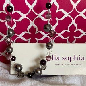 Lia Sophia VINO Multi Strand Beaded Necklace